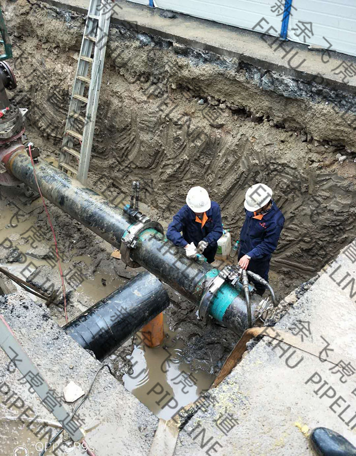 hot tap & line stop on 16-inch gas pipeline for pipe section replacement